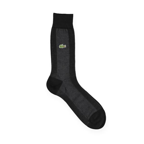 Lacoste Unisex Siyah - Gri Çorap