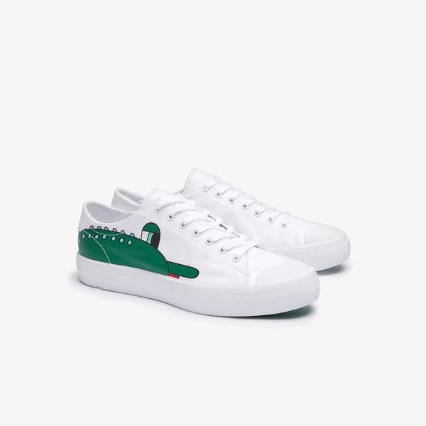 Lacoste X Jeremyville Gripshot Jvl 120 1 Cma Erkek Beyaz - Yeşil Sneaker