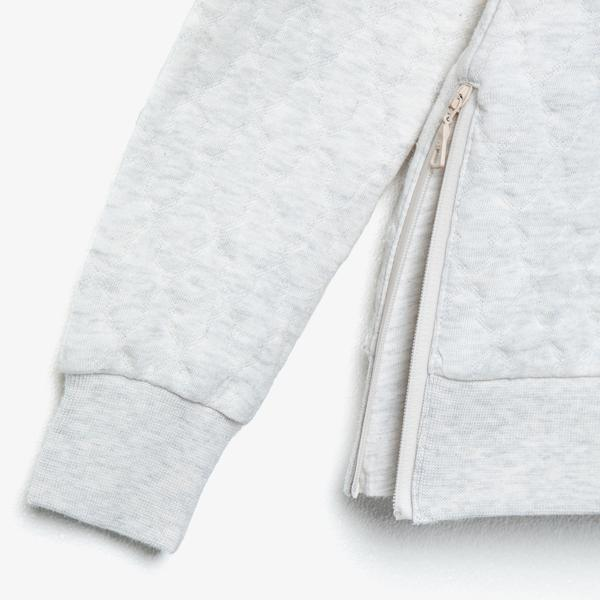 Lacoste Kadın Bisiklet Yaka Kapitone Beyaz Sweatshirt