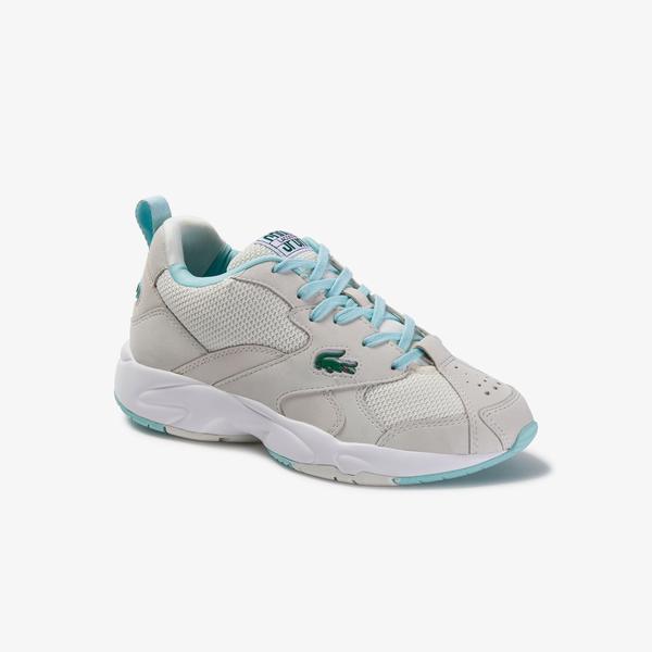 Lacoste Storm 96 120 1 Sfa Kadın  Beyaz - Açık Yeşil Ayakkabı