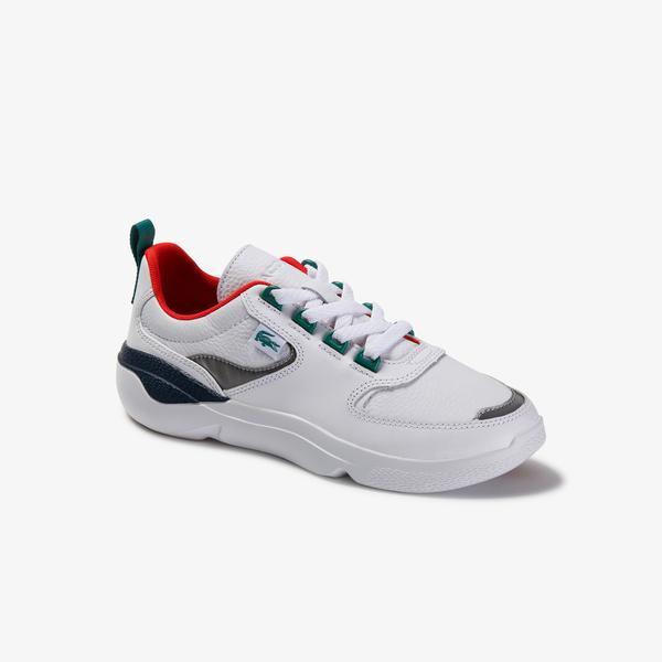 Lacoste Wildcard 120 3 Sfa Kadın Beyaz - Lacivert Deri Ayakkabı
