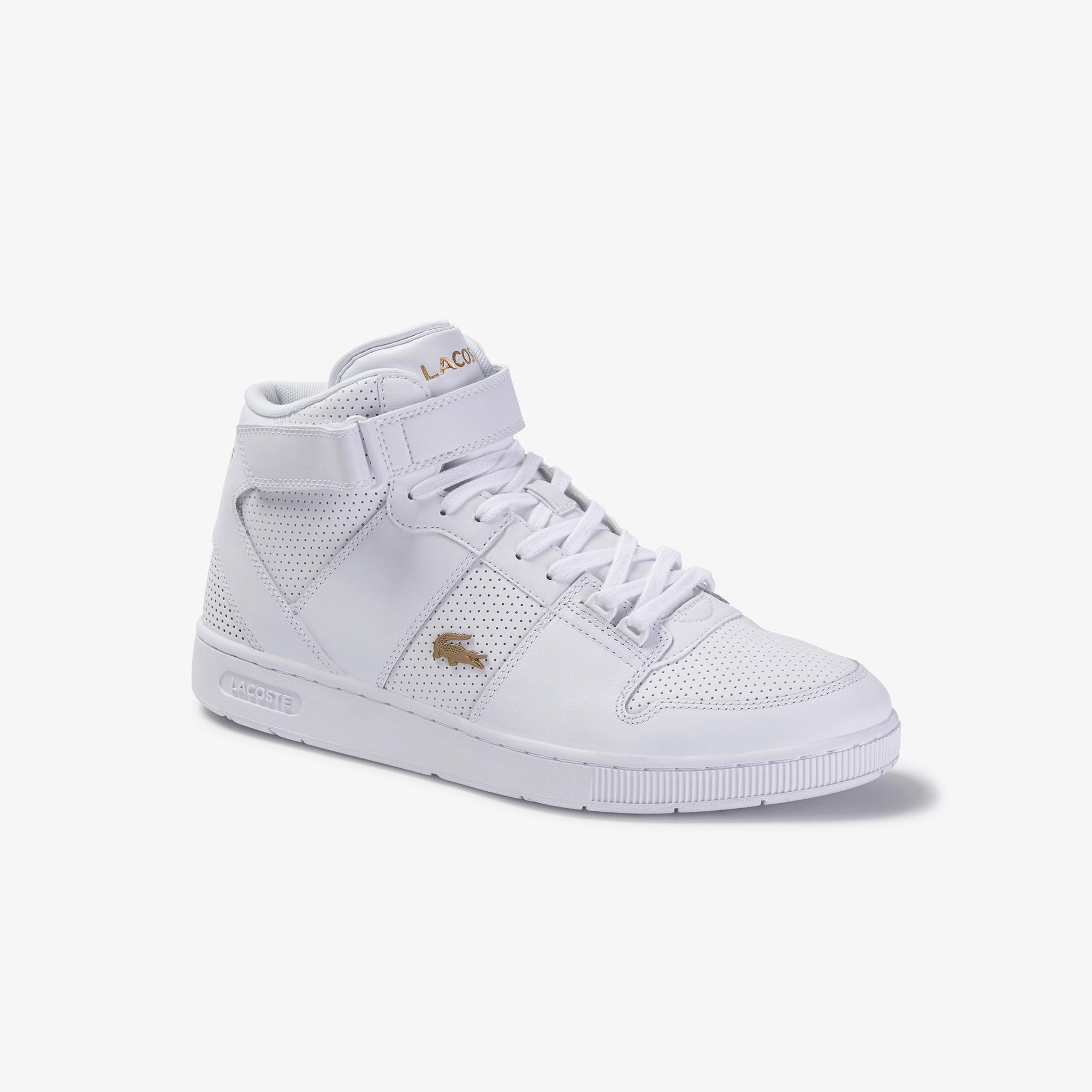 Lacoste Tramline Mid 120 3 Us Sma Erkek Beyaz Deri Ayakkabı