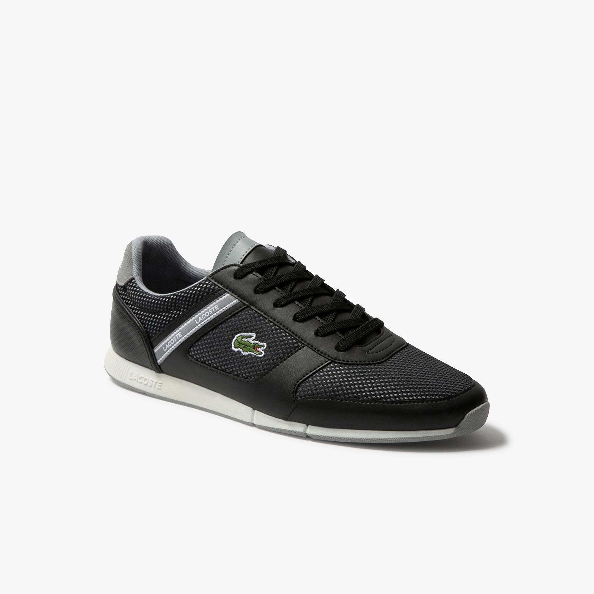 Lacoste Menerva Sport 120 1 Cma Erkek Siyah - Gri Ayakkabı