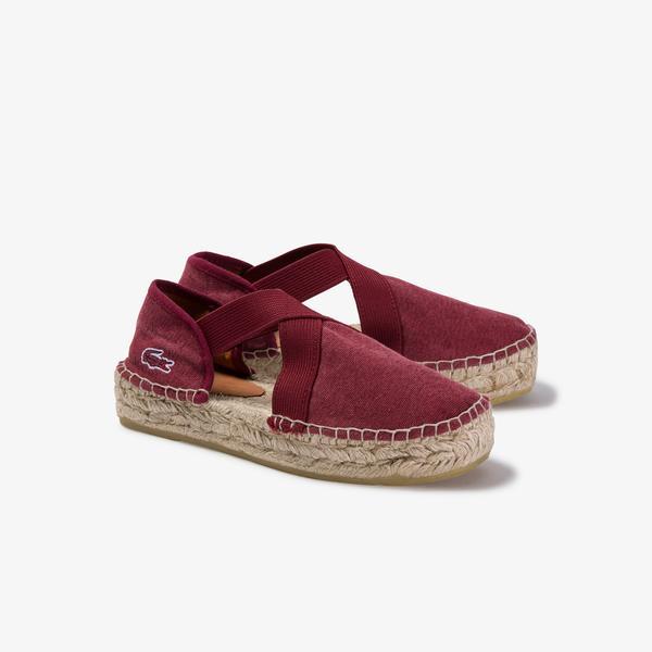 Lacoste Socoa 120 1 Cfa Kadın Koyu Kırmızı Slip On