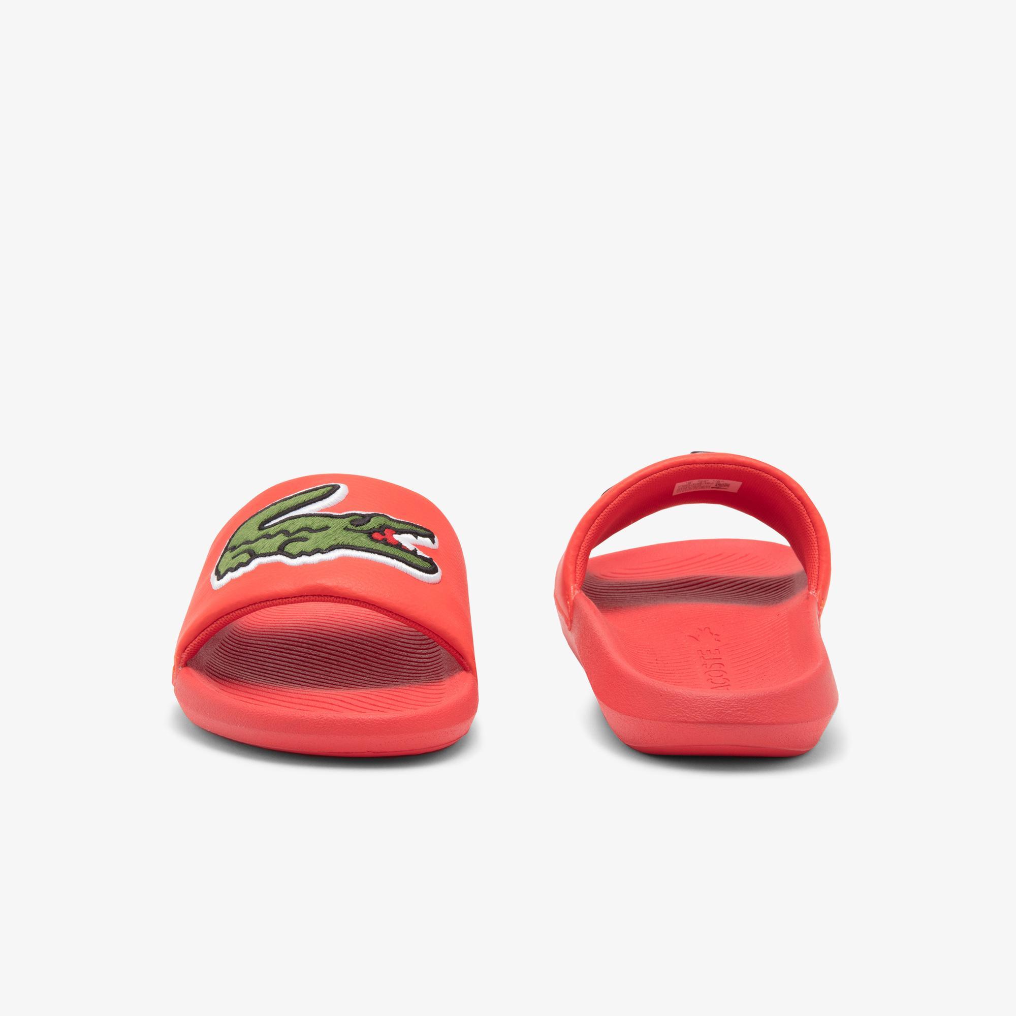 Lacoste Croco Slide 120 US CMA Erkek Timsah Baskılı Kırmızı Terlik