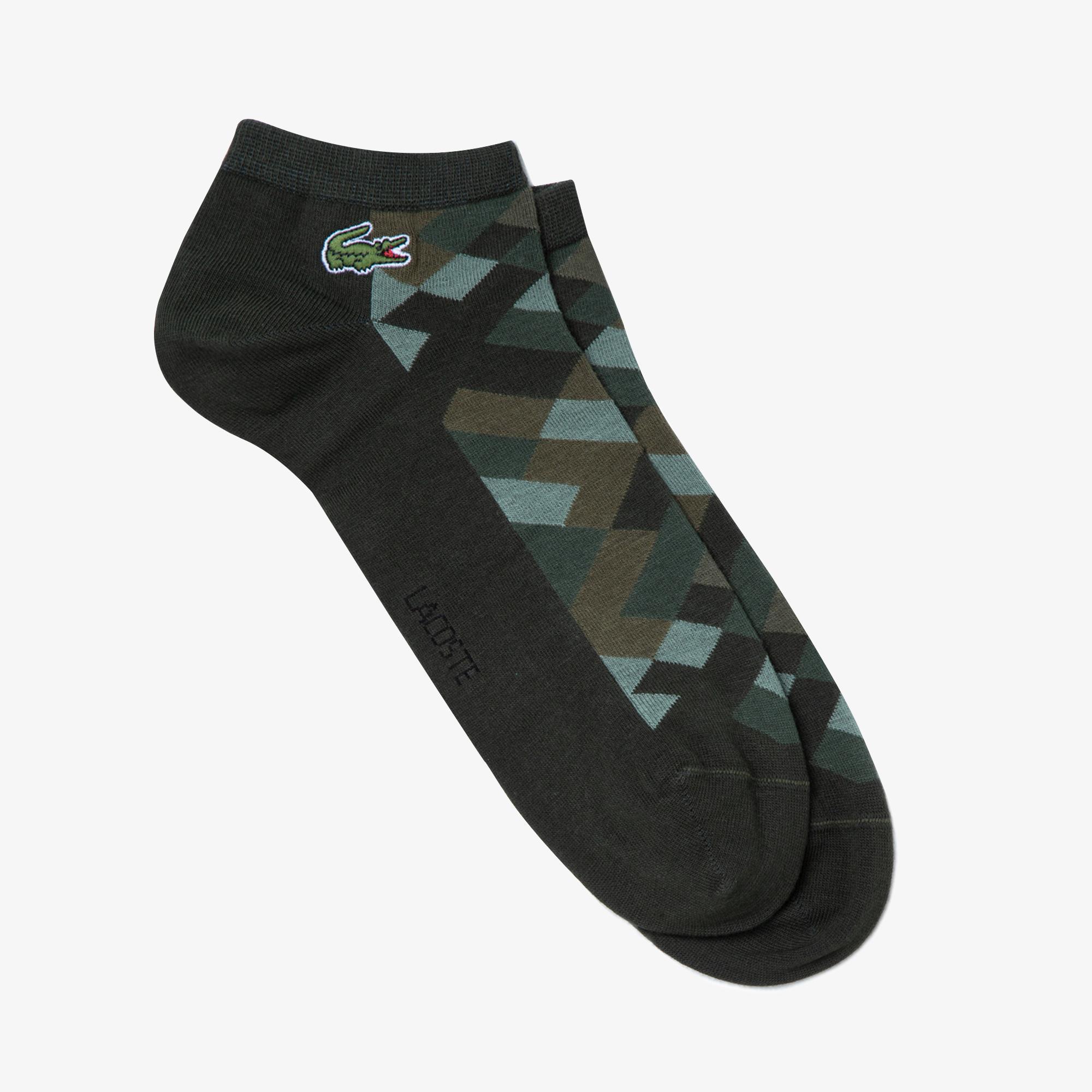 Lacoste Unisex Desenli Haki Çorap