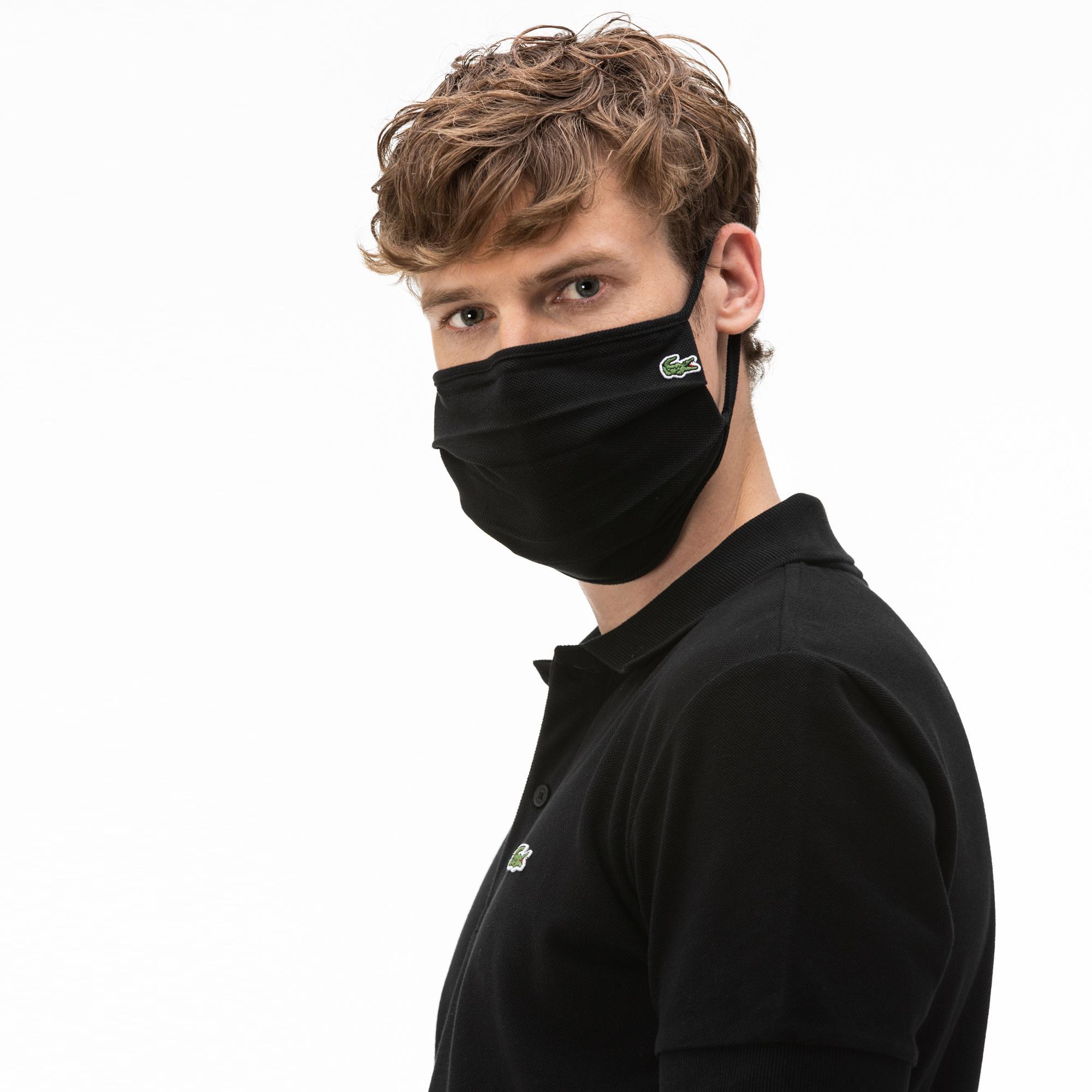 Lacoste Pamuklu Yıkanabilir Siyah L1212 Maske