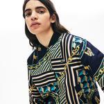 Lacoste L!VE Kadın Kapüşonlu Desenli Renkli Ceket