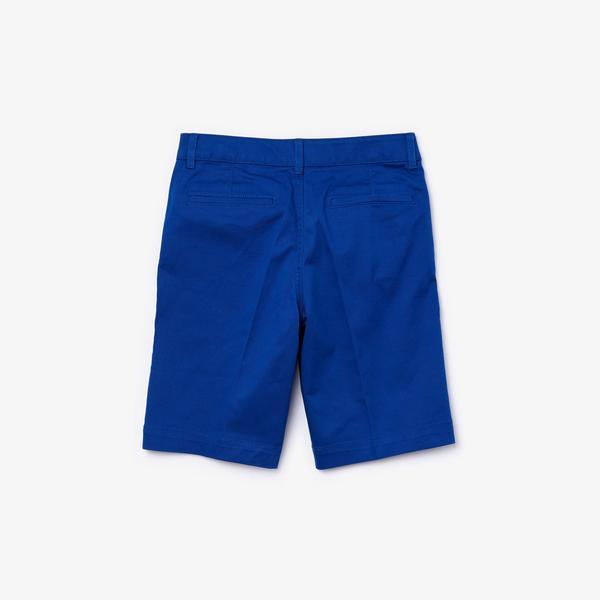 Lacoste Çocuk Saks Mavi Bermuda Şort