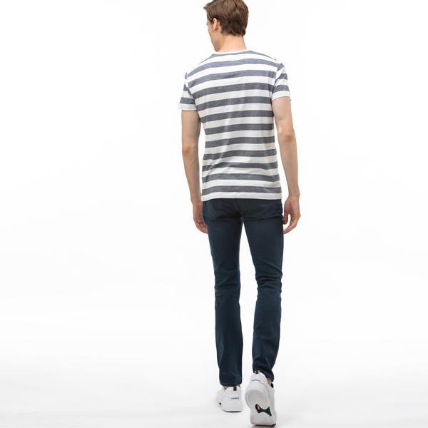Lacoste Erkek Slim Fit Denim Lacivert Pantolon