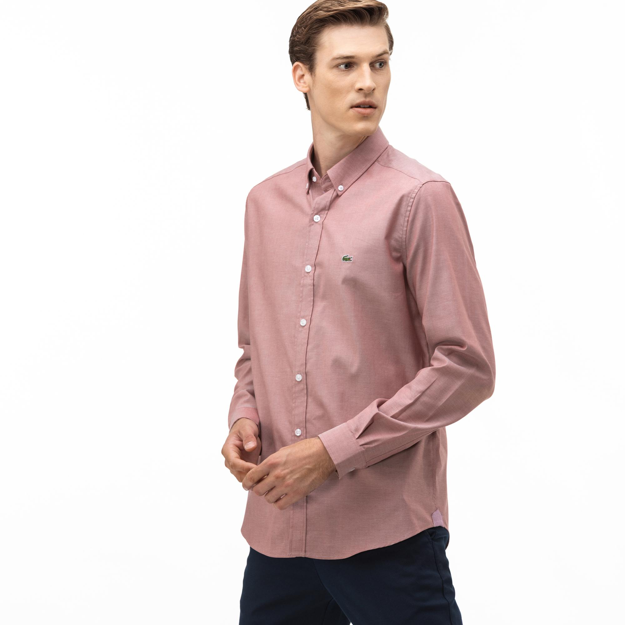 Lacoste Erkek Regular Fit Pembe Gömlek