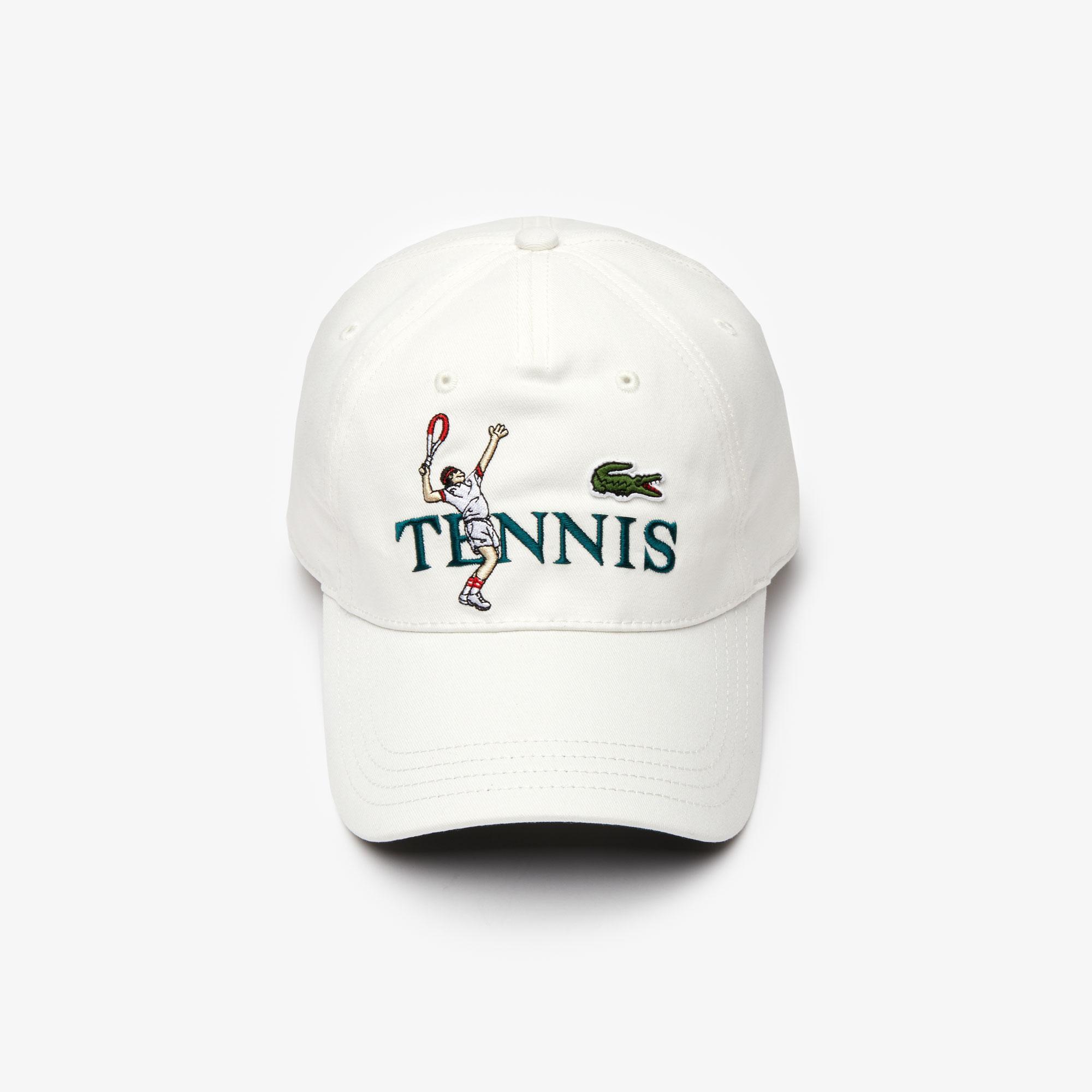 Lacoste L!VE Unisex Beyaz Şapka