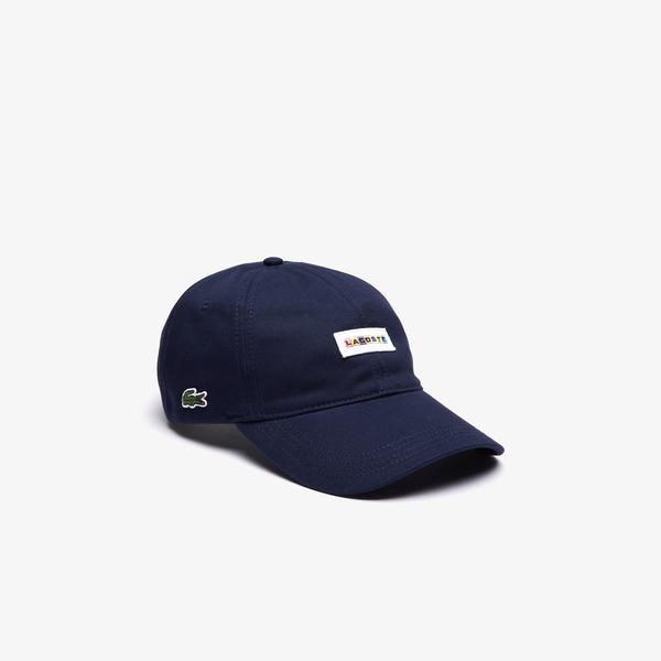 Lacoste Unisex Baskılı Lacivert Şapka