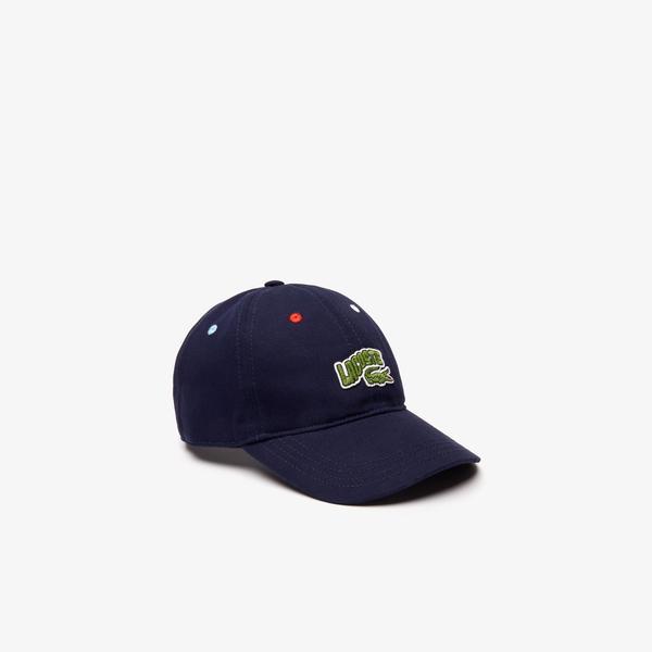 Lacoste Çocuk Baskılı Lacivert Şapka
