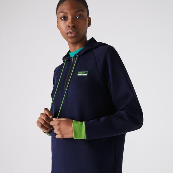 Lacoste Sport Kadın Kapüşonlu Uzun Kollu Lacivert Elbise
