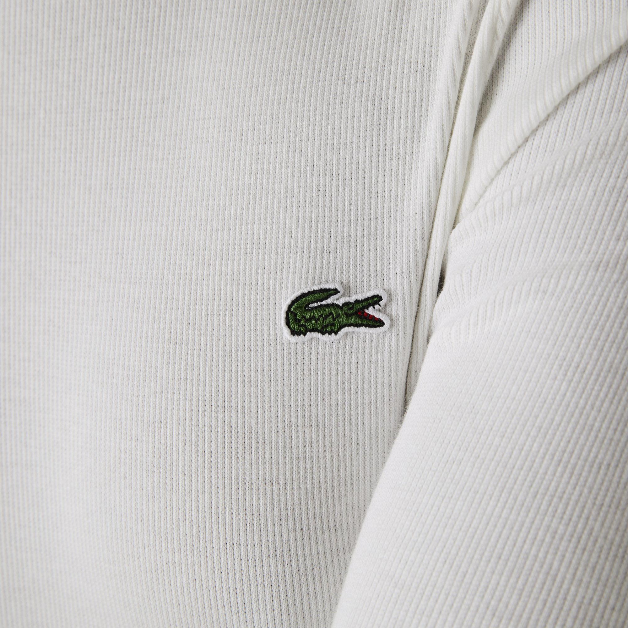 Lacoste L!VE Kadın Boğazlı Yaka Uzun Kollu Beyaz T-Shirt