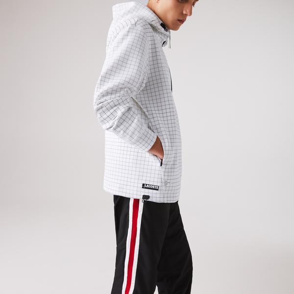 Lacoste Erkek Baskılı Fermuarlı Beyaz Sweatshirt