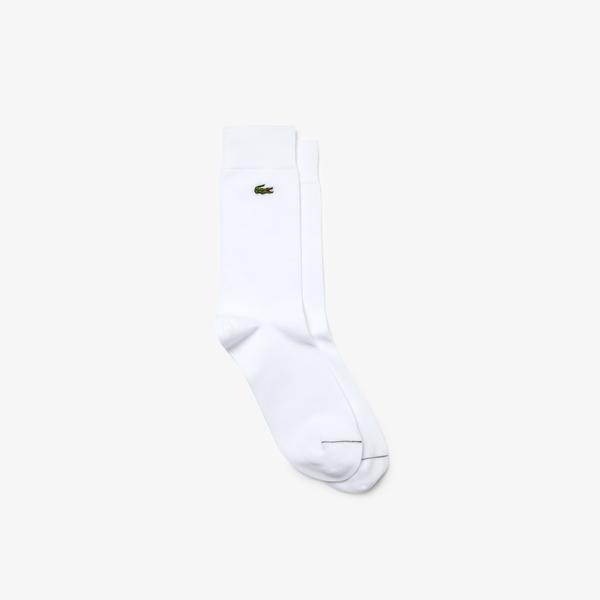Lacoste Men's Embroidered Crocodile Cotton Blend Socks