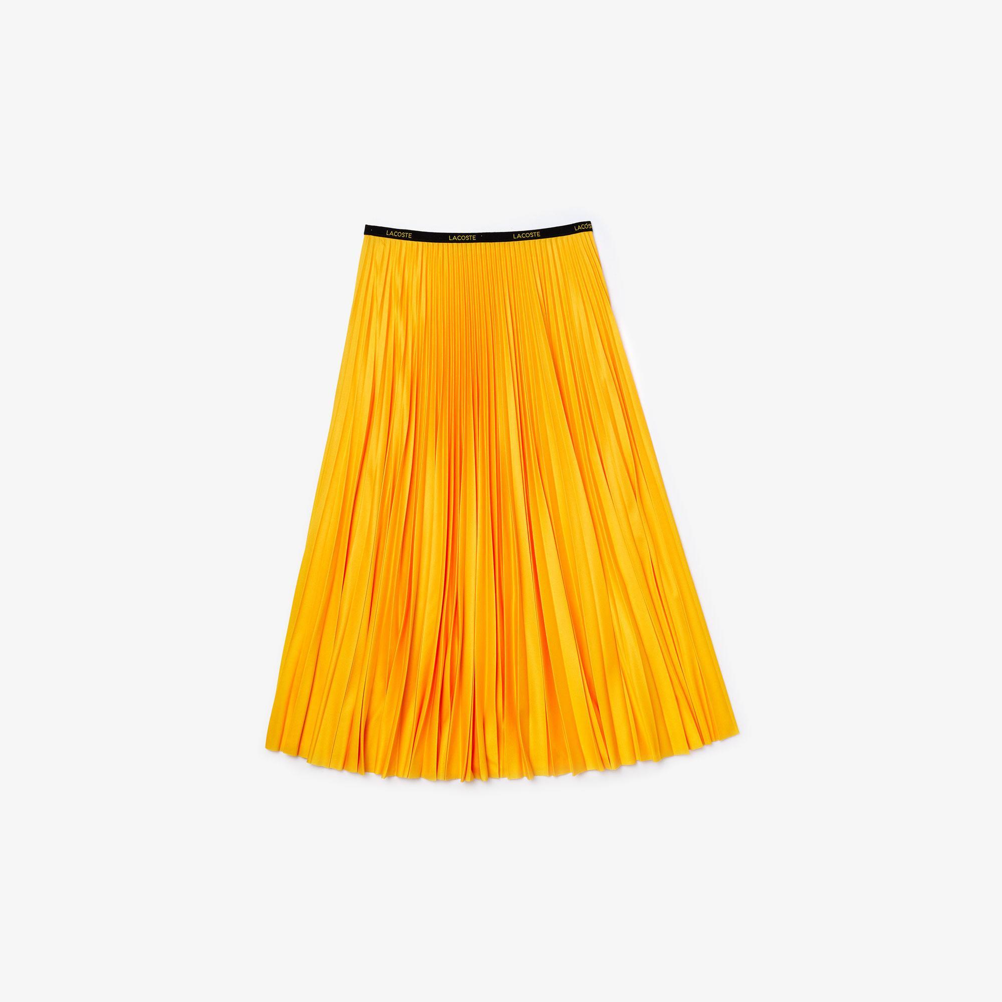 Lacoste Kadın Pileli Sarı Etek