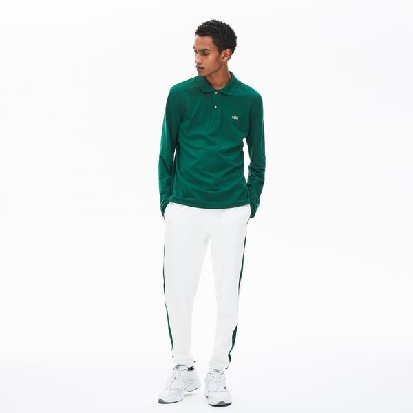 Lacoste Erkek Klasik Fit L1212 Uzun Kollu Yeşil Polo