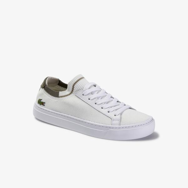 Lacoste La Piquee 120 2 Cfa Kadın Beyaz - Haki Sneaker