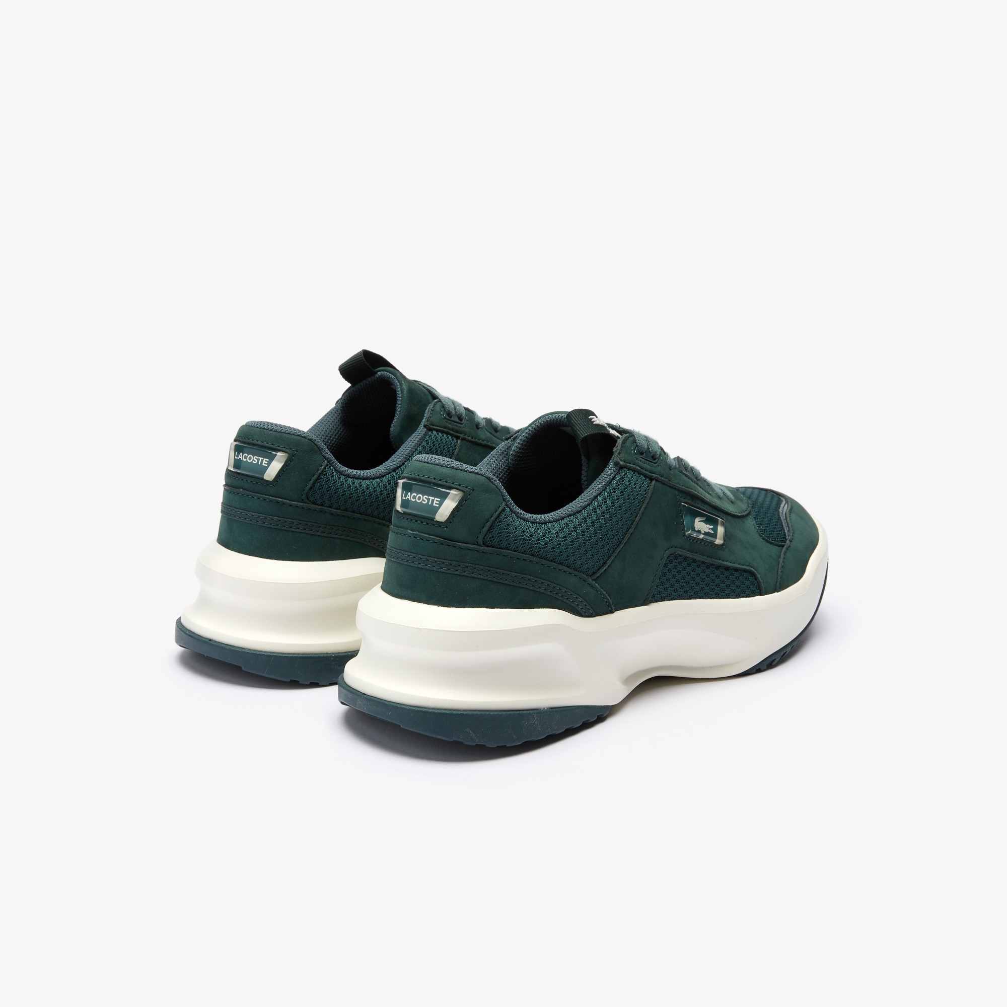Lacoste Men/'s Ace Lift 0320 2 SMA Leather Trainers White