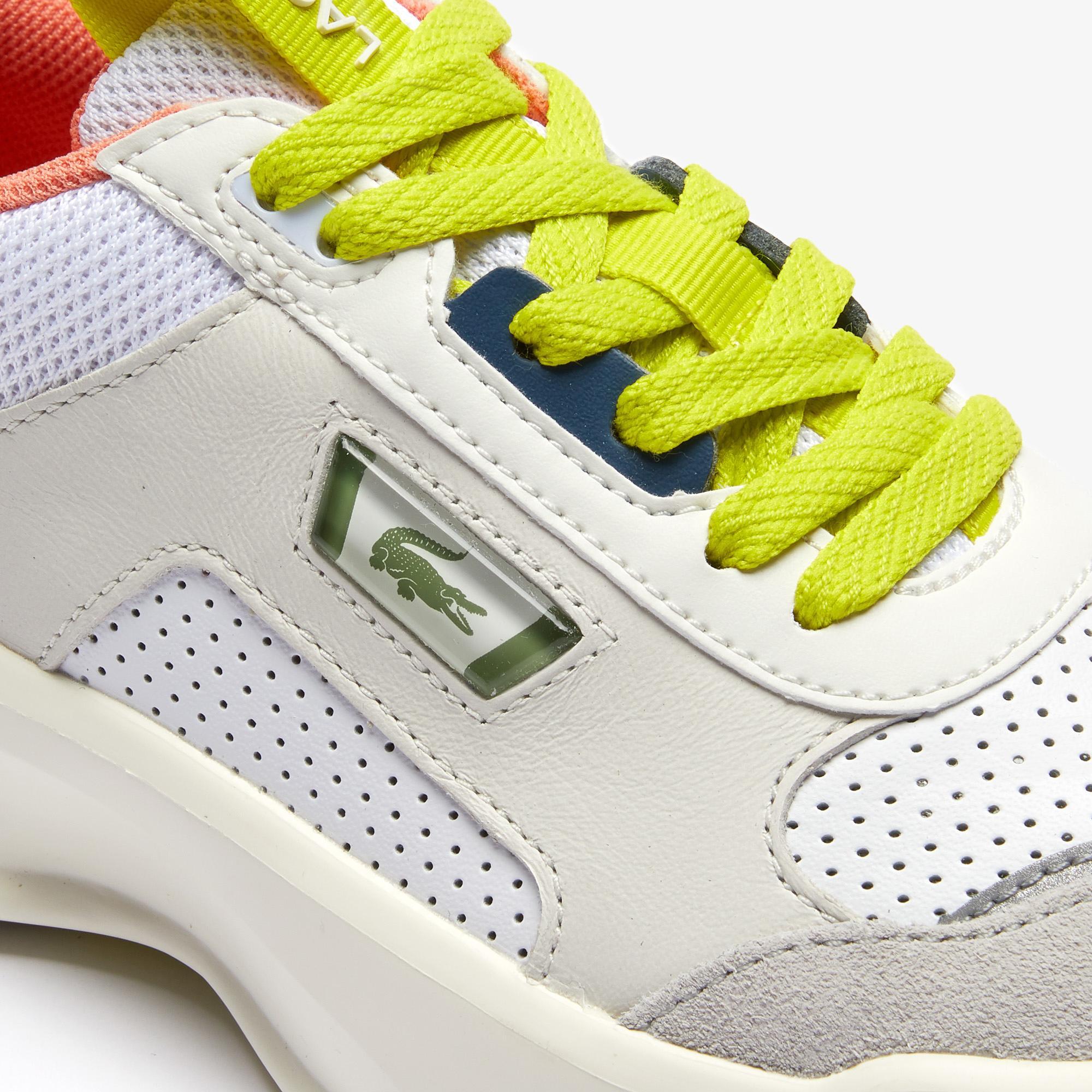 Lacoste Ace Lift 0120 2 Sfa Kadın Deri Beyaz - Açık Gri Sneaker