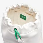 Lacoste Fashion Show Kadın Baskılı Deri Beyaz Askılı Çanta
