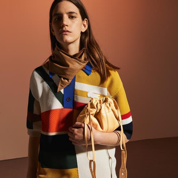 Lacoste Fashion Show Kadın Deri Bej Askılı Çanta