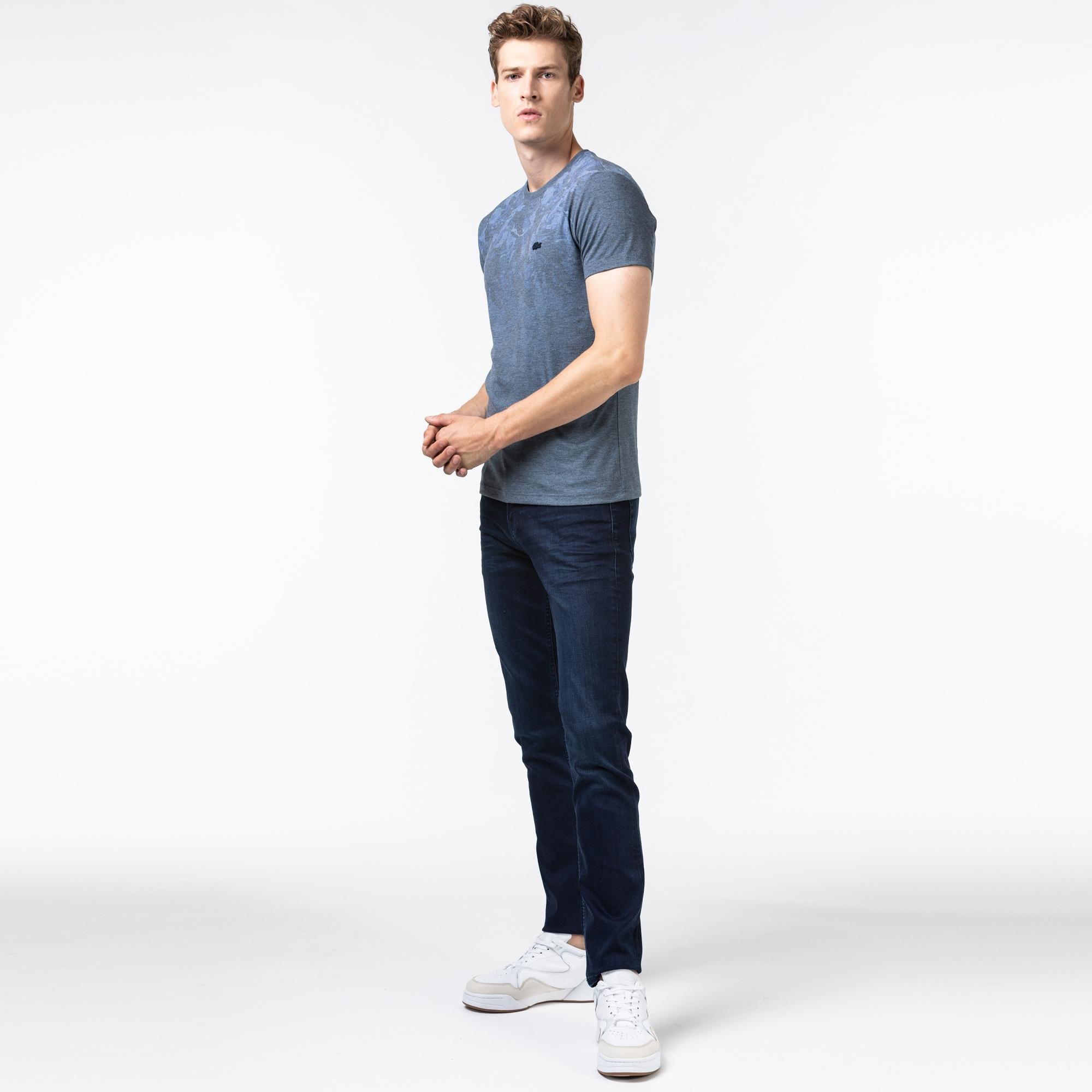 Lacoste Erkek Slim Fit Lacivert Denim Pantolon