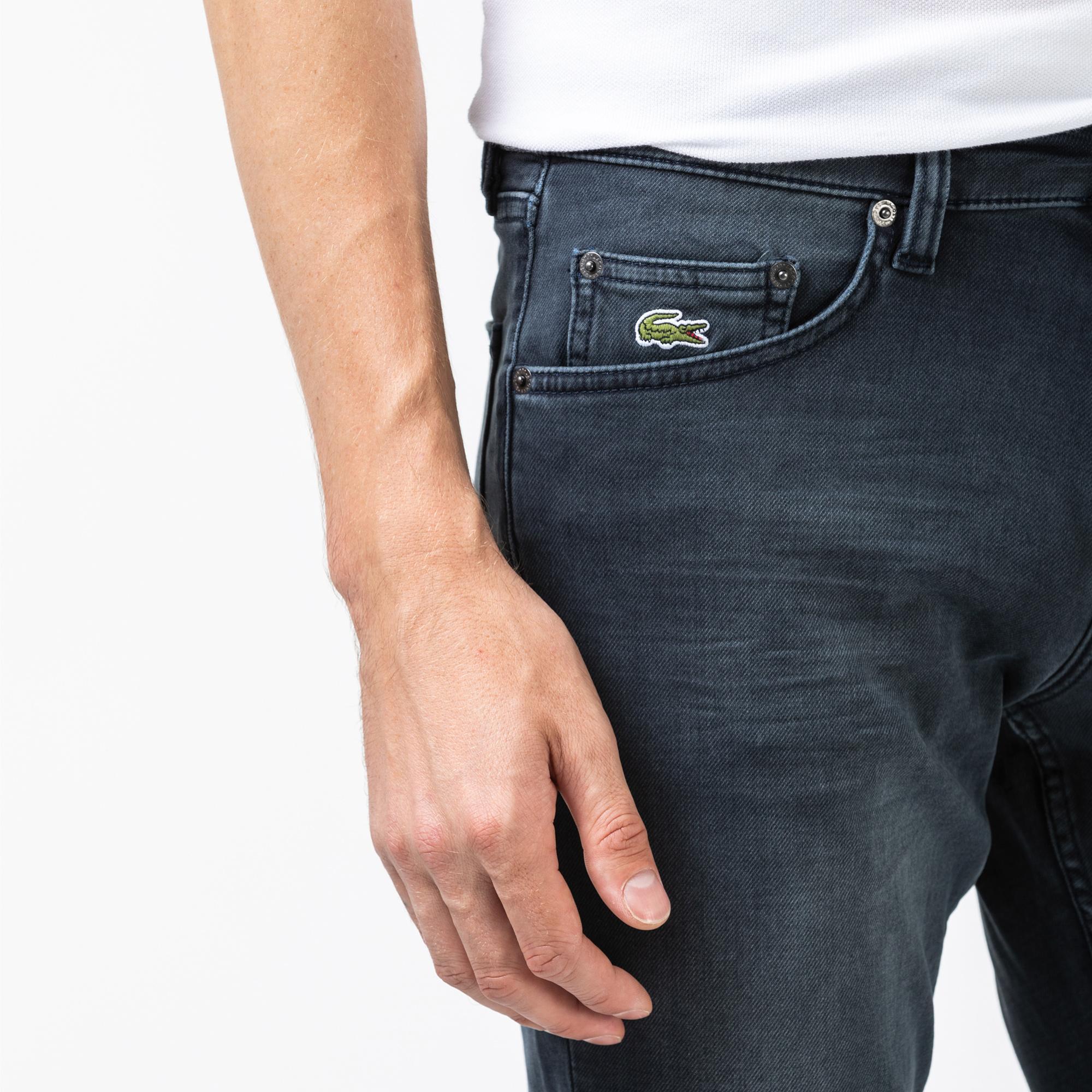 Lacoste Erkek Slim Fit Lacivert Denim Pantolon