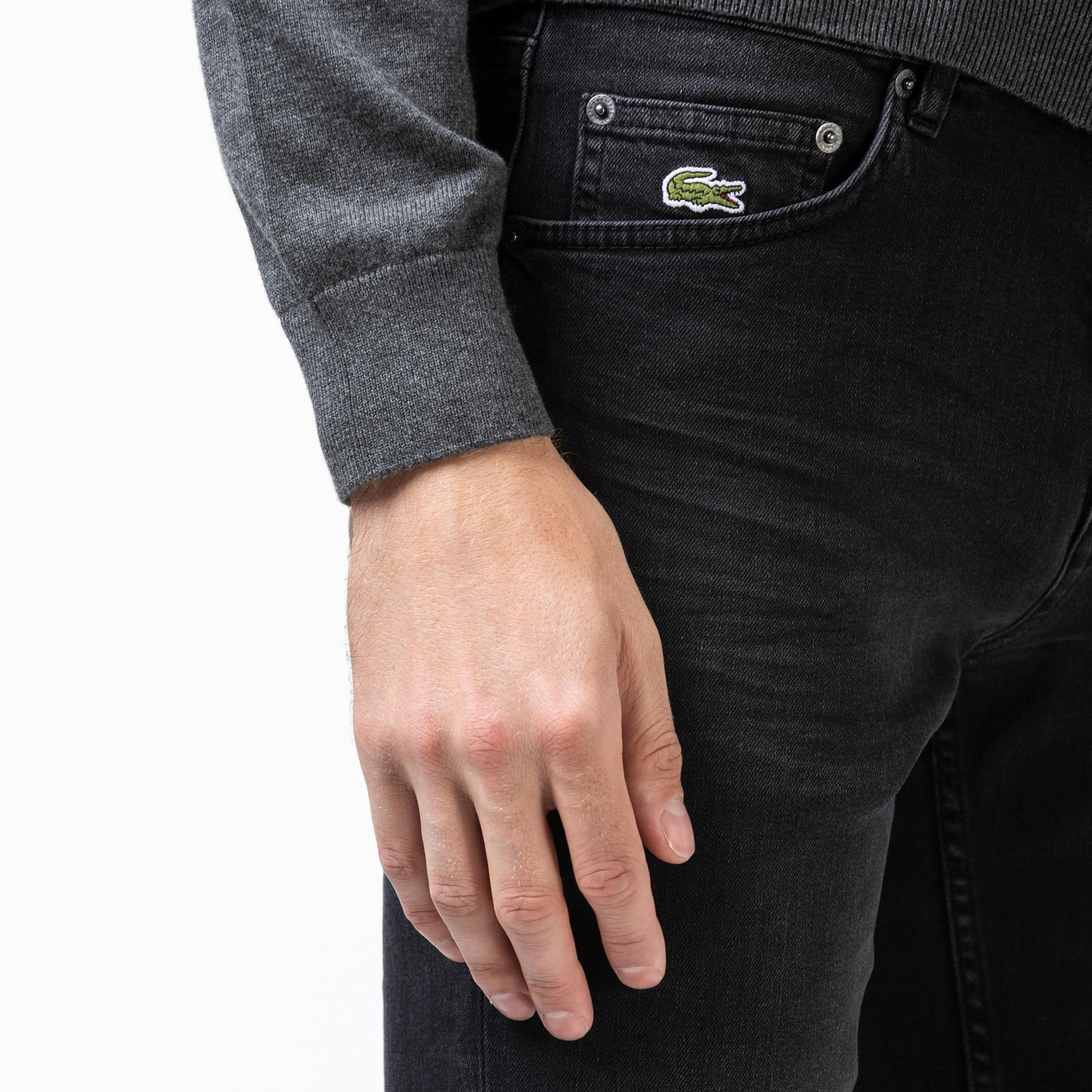 Lacoste Erkek Slim Fit Gri Denim Pantolon