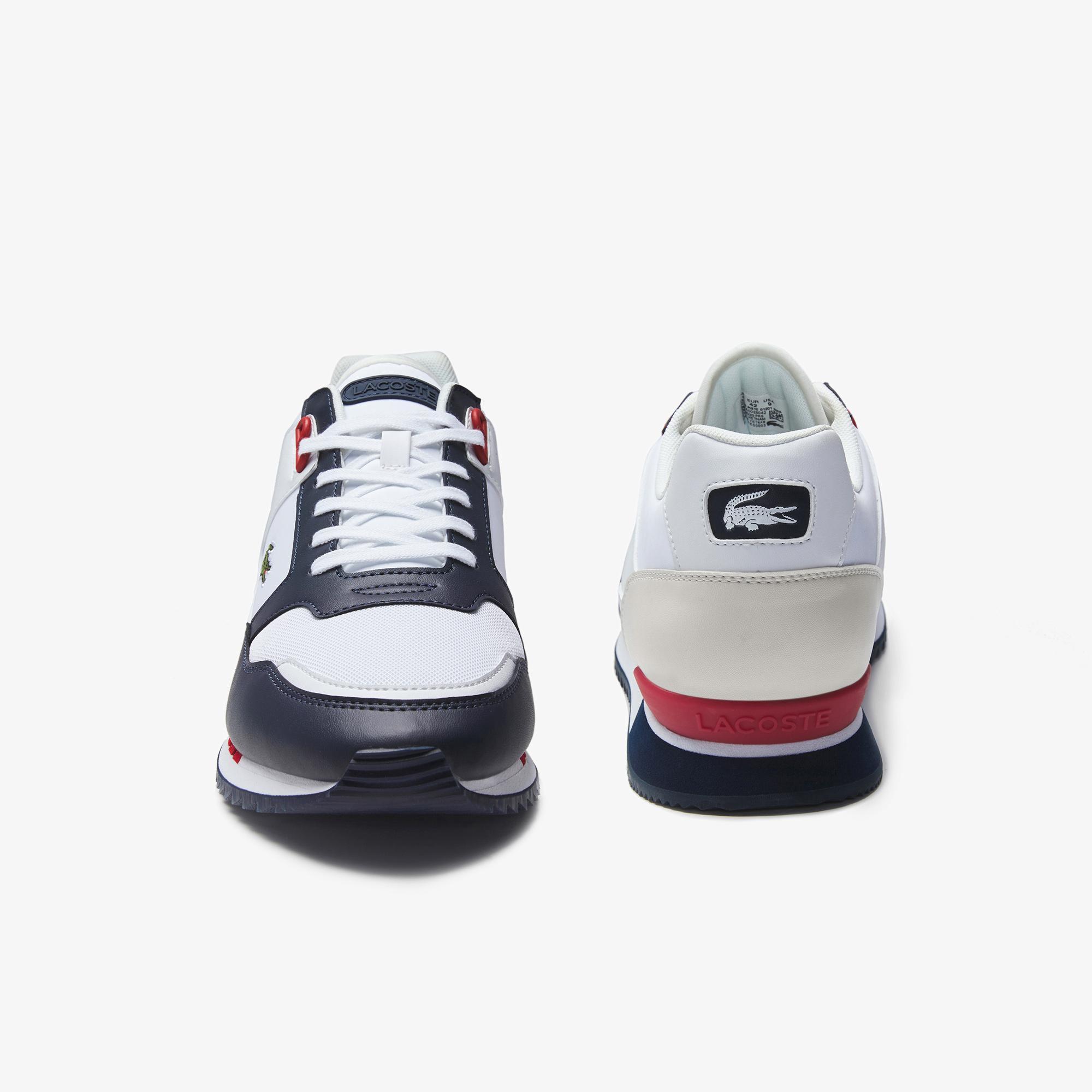 Lacoste Partner Piste 01201 Sma Erkek Beyaz - Lacivert Sneaker