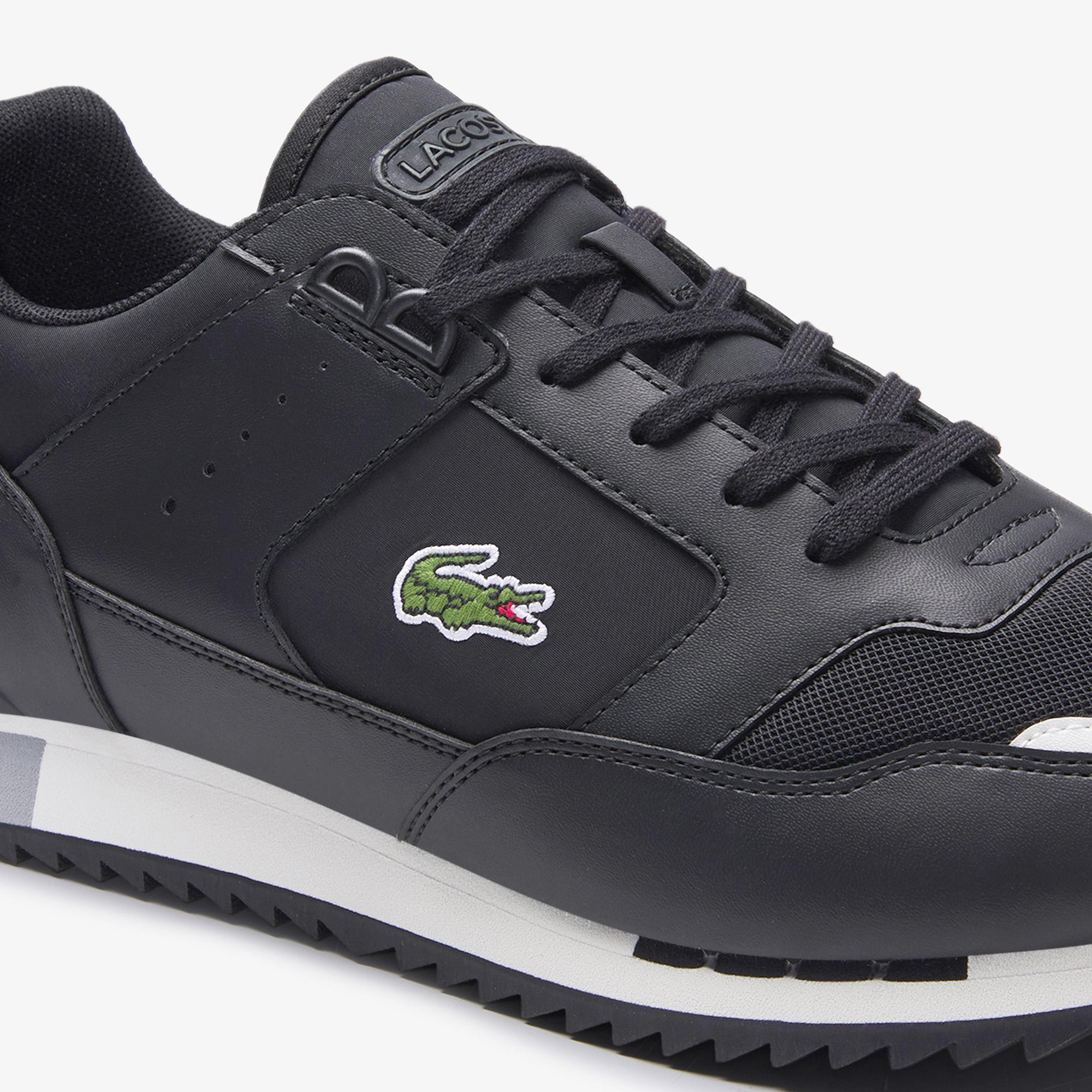 Lacoste Partner Piste 01201 Sma Erkek Siyah - Gri Sneaker