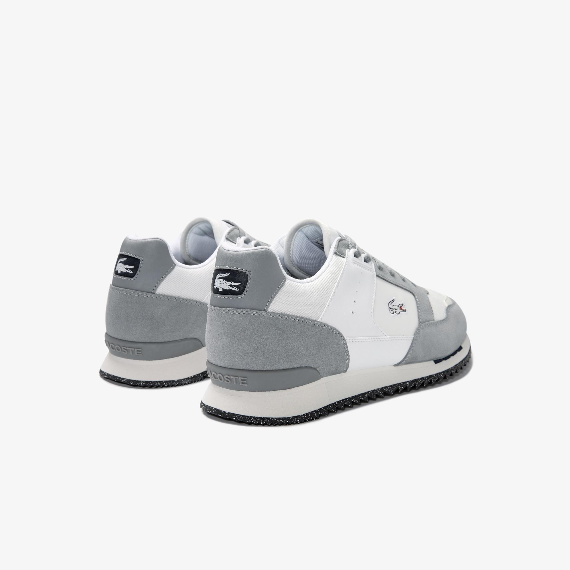 Lacoste Partner Piste 01202 Sma Erkek Gri - Beyaz Sneaker