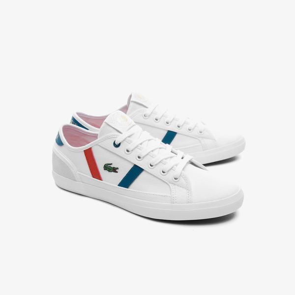 Lacoste Sideline Rg 120 1 Cfa Kadın Beyaz - Mavi Sneaker