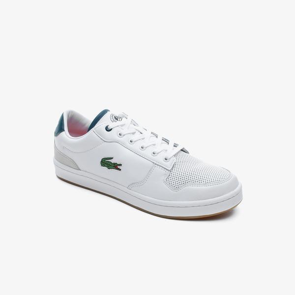 Lacoste Masters Cup Rg 120 1 Sma Erkek Beyaz - Koyu Yeşil Deri Sneaker
