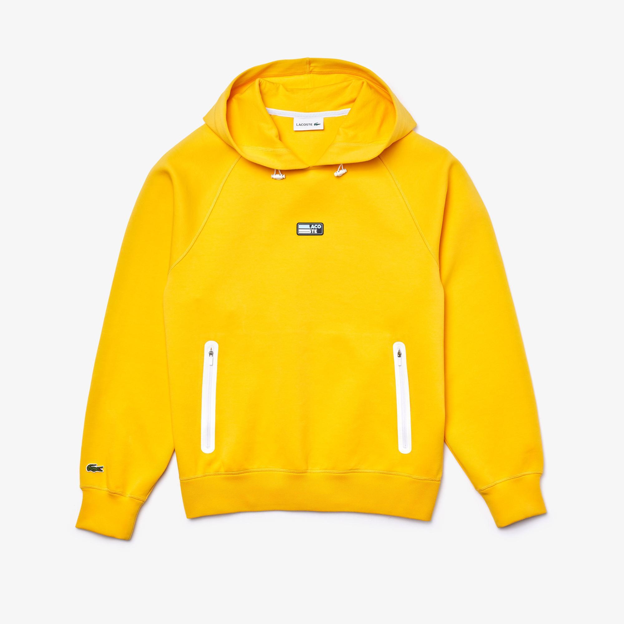 Lacoste Erkek Kapüşonlu Sarı Sweatshirt