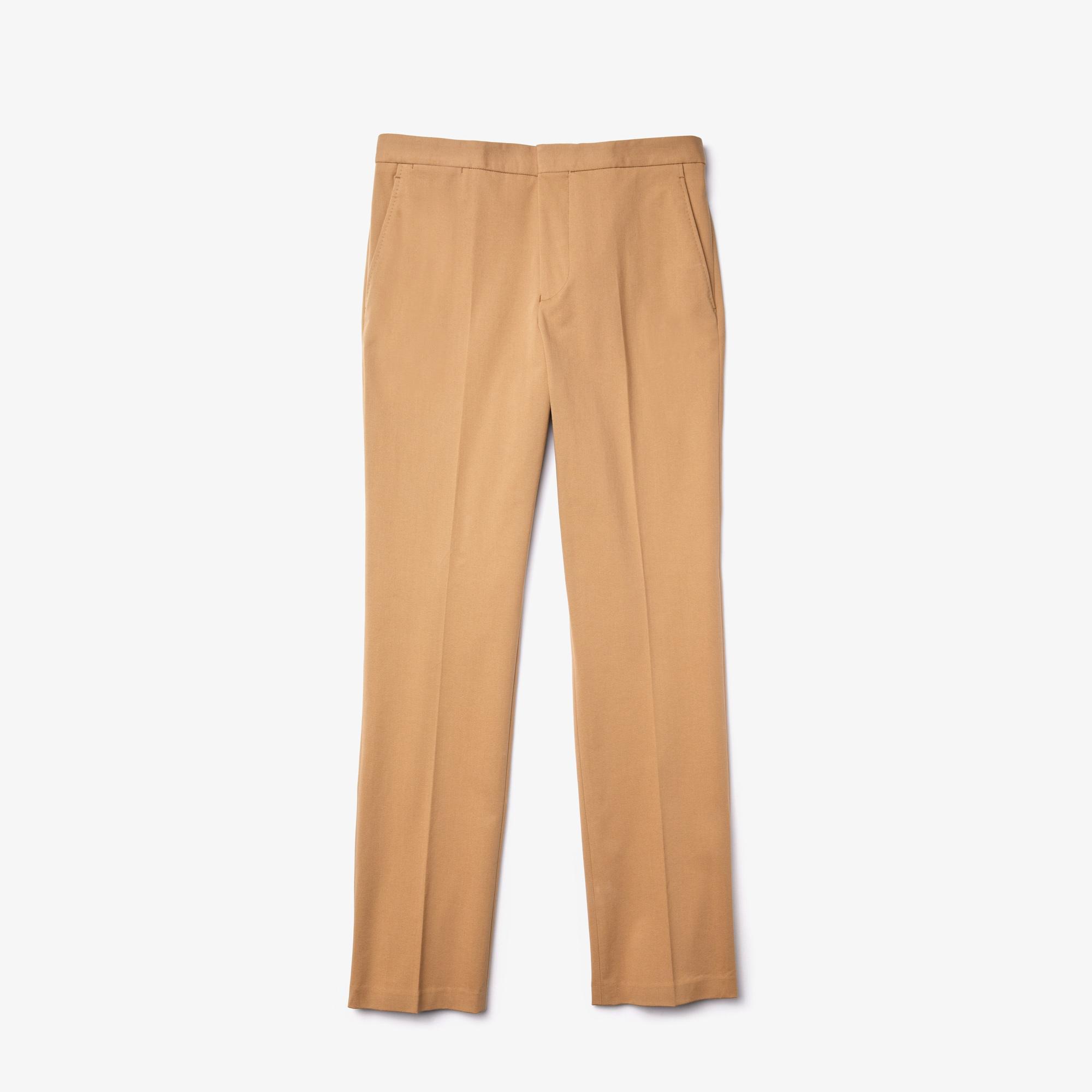 Lacoste Erkek Slim Fit Streç Kahverengi Pantolon