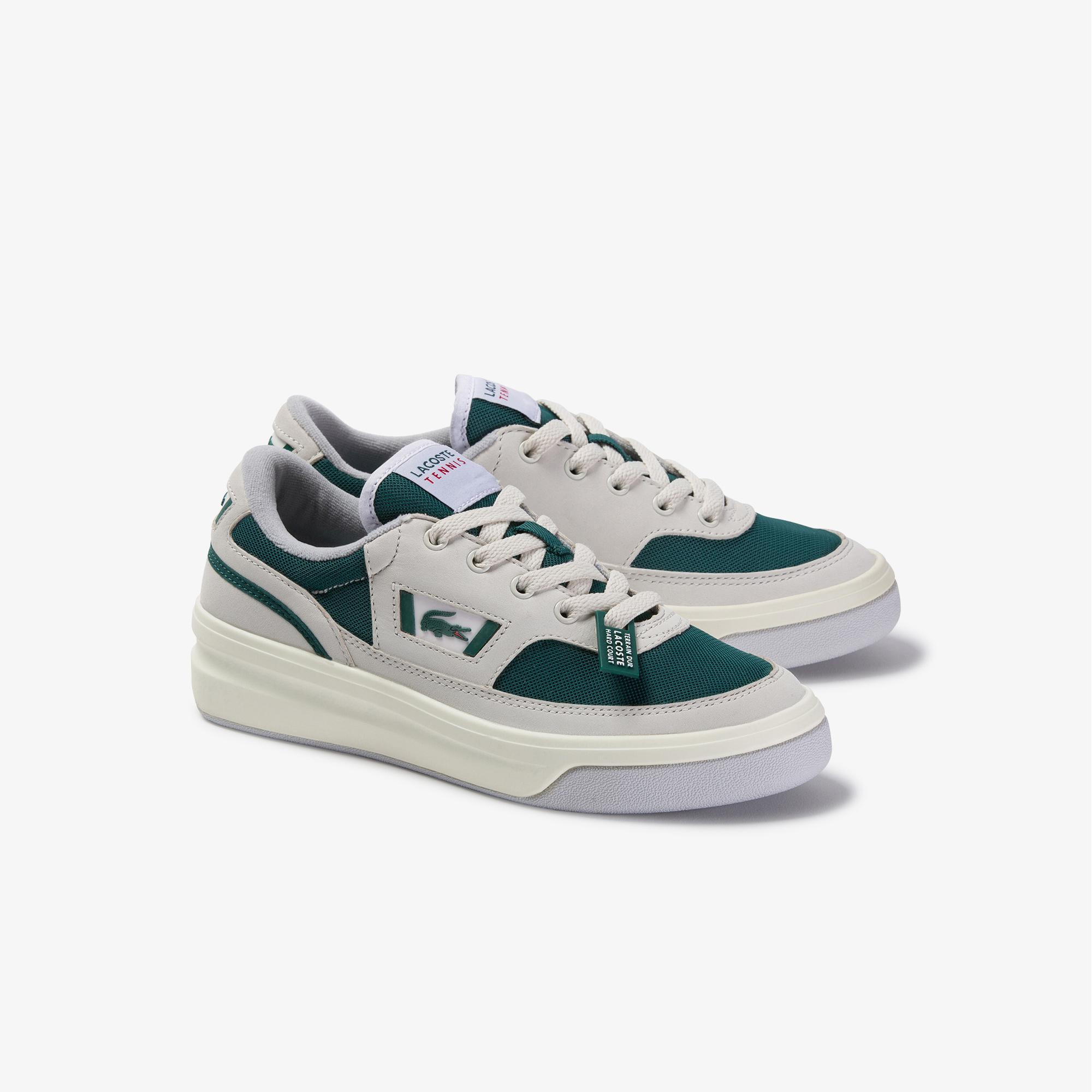 Lacoste G80 Og 120 1 Sfa Kadın Beyaz - Koyu Yeşil Deri Sneaker