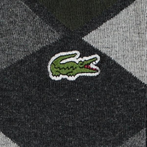 Lacoste Unisex Desenli Uzun Gri Çorap