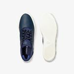Lacoste Esparre Chukka 0320 1 Cma Erkek Deri Lacivert - Beyaz Mid Ayakkabı