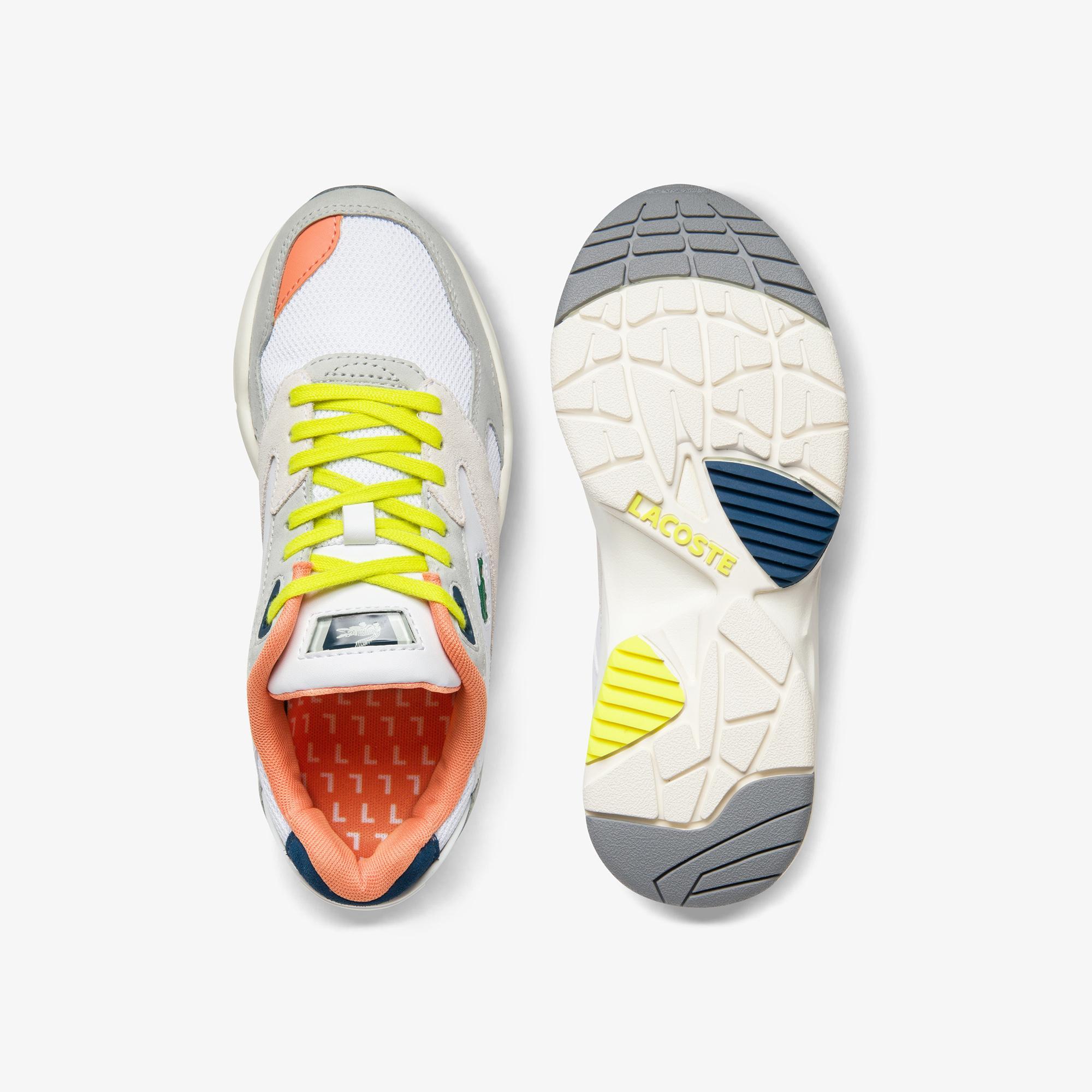 Lacoste Storm 96 Lo 0120 2 Sfa Kadın Açık Gri - Koyu Mavi Sneaker