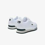 Lacoste Partner Piste 01201 Sma Erkek Beyaz - Koyu Yeşil Sneaker