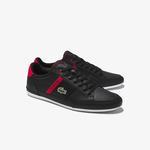 Lacoste Chaymon 0120 2 Cma Erkek Siyah - Kırmızı Casual Ayakkabı