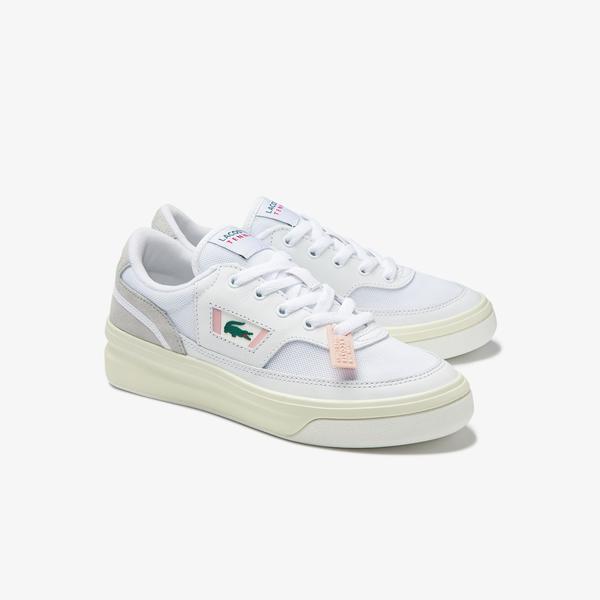 Lacoste G80 0120 1 Sfa Kadın Deri Beyaz - Açık Pembe Sneaker