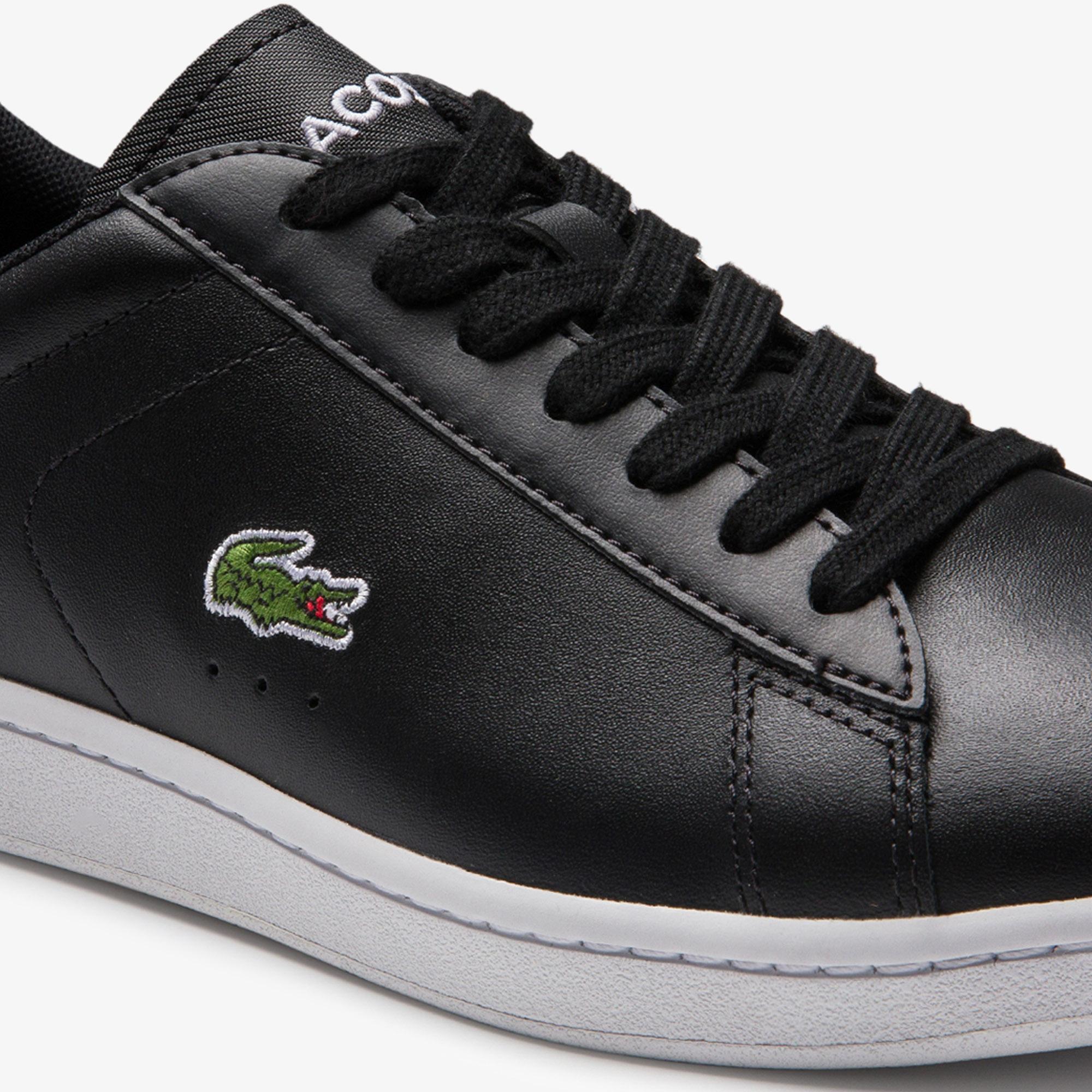 Lacoste Carnaby Evo 0120 5 Sfa Kadın Deri Siyah - Beyaz Sneaker