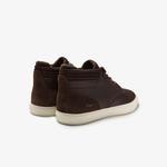 Lacoste Esparre Chukka 0320 1 Cma Erkek Deri Koyu Kahverengi - Beyaz Mid Ayakkabı