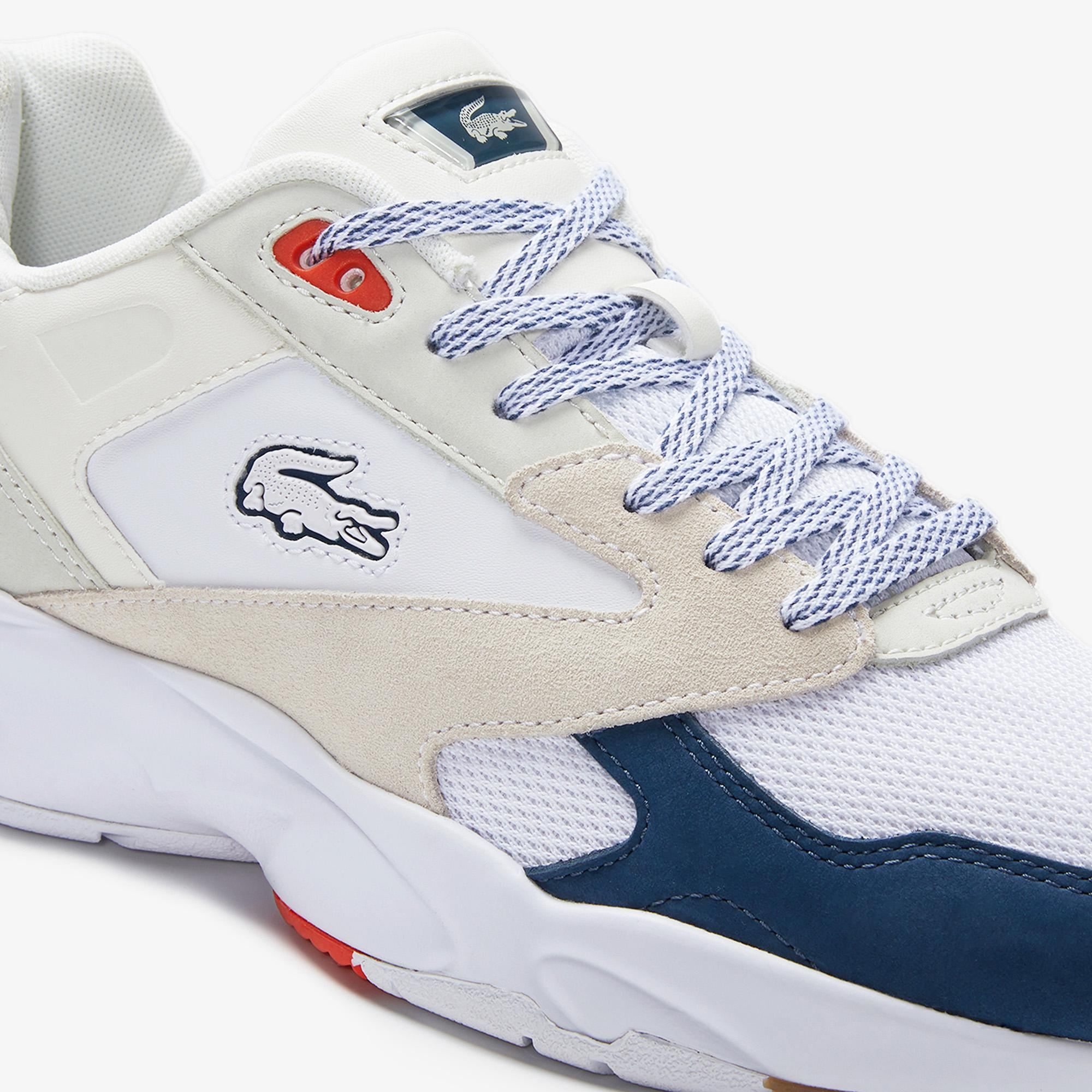 Lacoste Storm 96 Lo 0120 4 Sma Erkek Beyaz - Koyu Mavi Sneaker