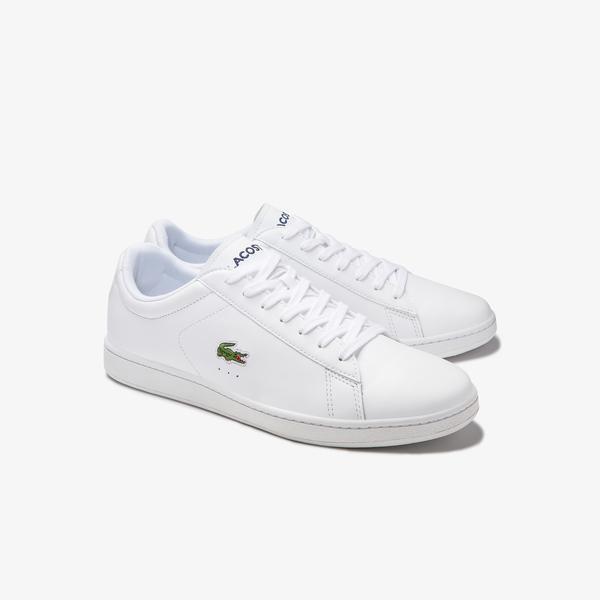 Lacoste Carnaby Evo 0120 4 Sma Erkek Deri Beyaz Sneaker